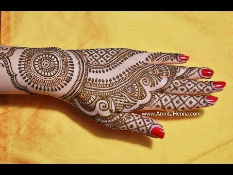 Easy Simple Bridal Mehendi Design For Back Side How To Draw Full