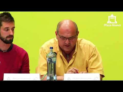 El debate de Plaza Nueva: José Ignacio Martínez Santos (Vecinos por Tudela) pide el voto a la ciudadanía de Tudela