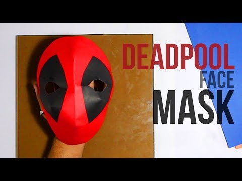 How to Make a Deadpool Paper Mask | DIY
