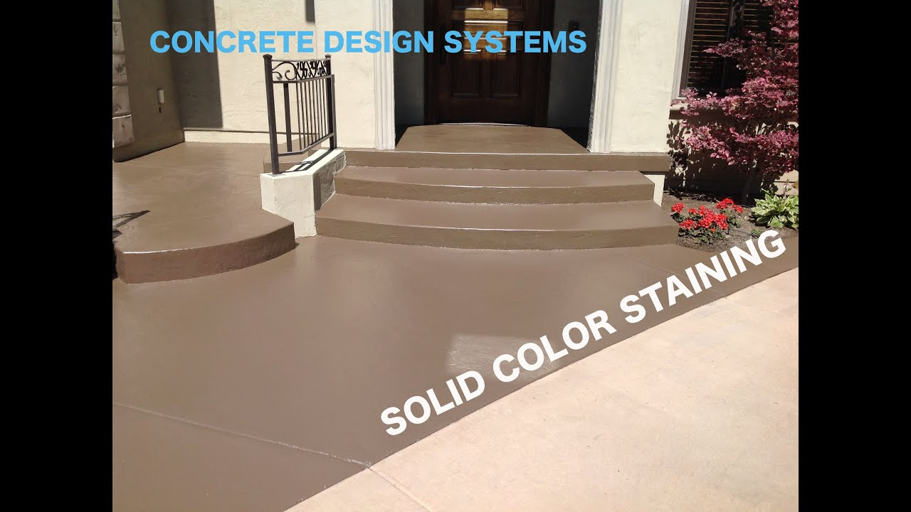 Color Staining Concrete Youtube