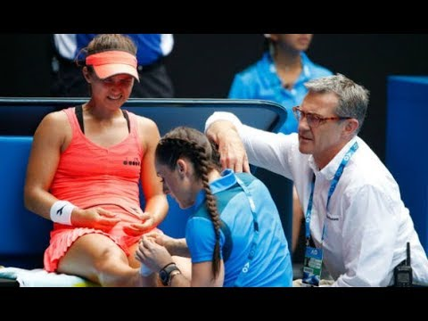 Australian Open 2018 Lauren Davis reveals GRUESOME i njury after Simona Halep loss