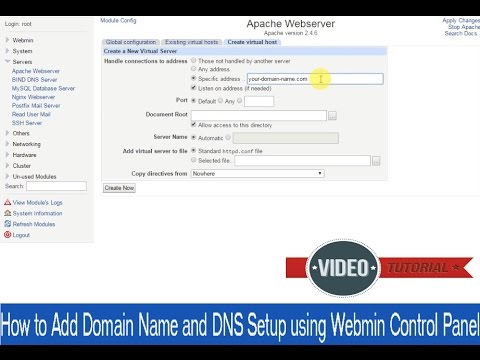 How to Add Domain Name and DNS Setup using Webmin Control Panel [Centos 6 x  & 7 x]