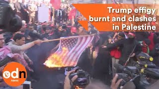 2017-12-09-16-24.Trump-effigy-burnt-and-clashes-in-Palestine