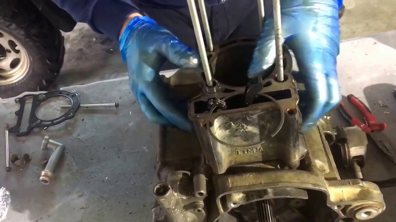 Piston rings change on atv linhai 300 part 2