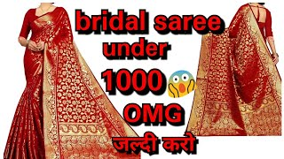 Unboxing super affordable bridal saree under 1000 rupees