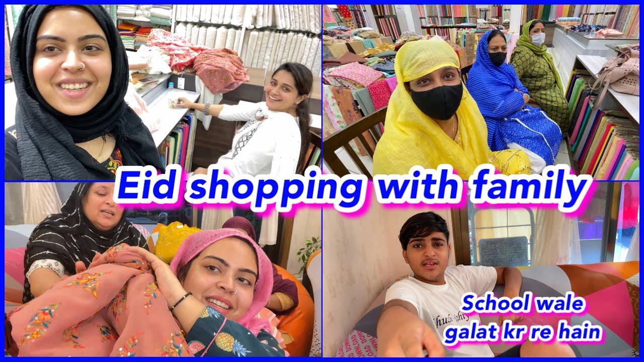 Eid Ki SHOPPING ho gayi 🛍 | Fun family shopping 😍 | ibrahim family vlog