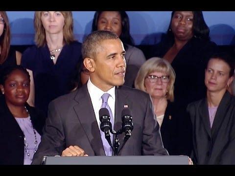 President Obama Speaks on Expanding Economic Opportunity for Women