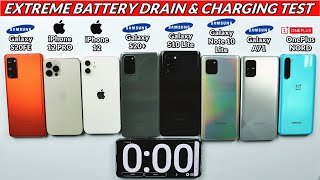 Galaxy S20 FE vs iPhone 12 Pro / 12 / S20+ / S10 Lite / Note 10 Lite /  A71 / Nord Battery Test