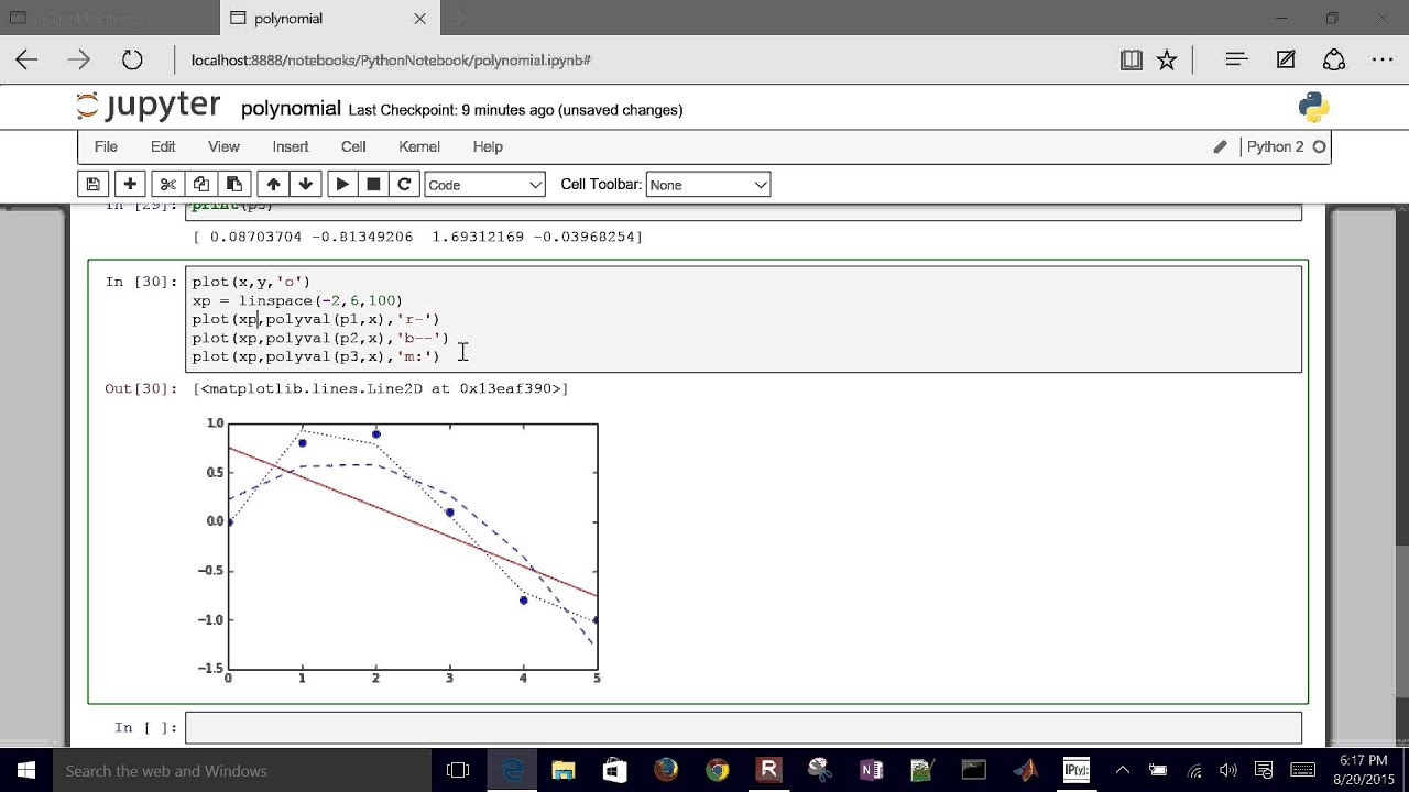 Linear and Polynomial Regression in Python