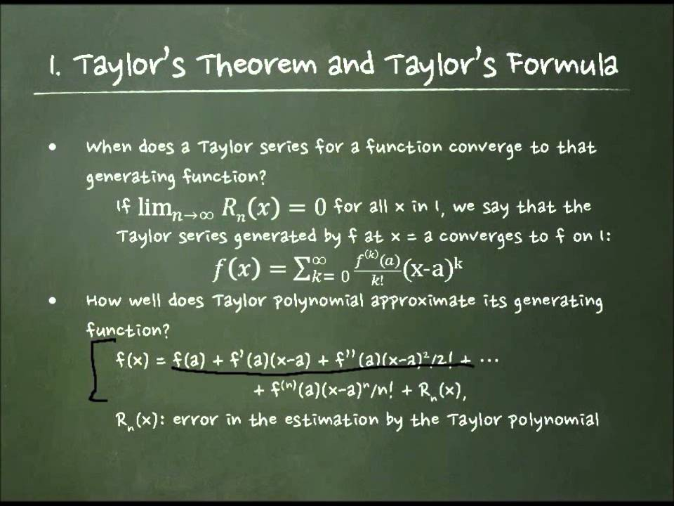 how to find convergence of taylor series