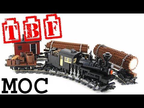 Lego Shay Locomotive MOC showcase