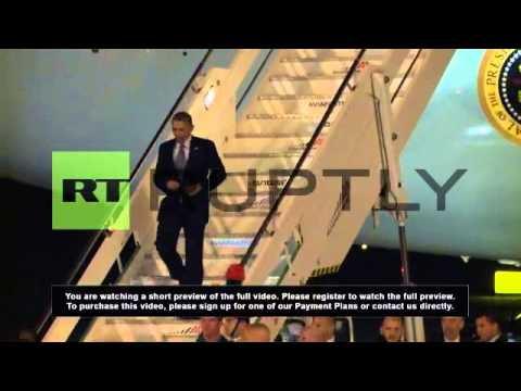 Italy: President Barack Obama lands in Rome