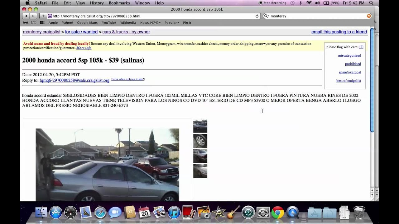 Craigslist monterey bay used cars under 1000 options on ford and honda