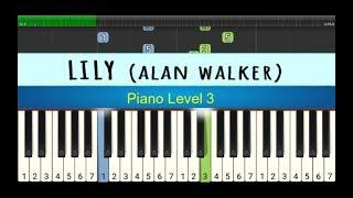 melodi piano lily - alan walker - belajar piano grade 3 - instrument