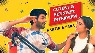 Kartik & Sara's CUTEST & FUNNIEST INTERVIEW EVER 😂 | Love Aaj Kal | Mirchi Prerna