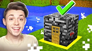 UNBREAKABLE Minecraft House INSIDE BEDROCK!?