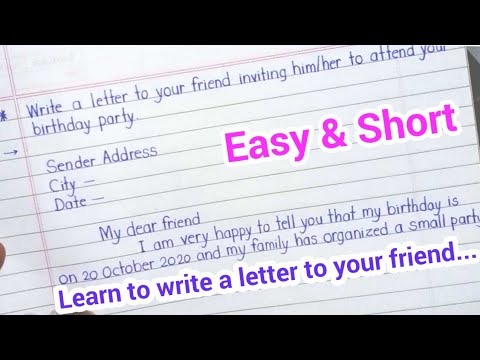 letter to friend invitation letter write a letter inviting a friend to your birthday party