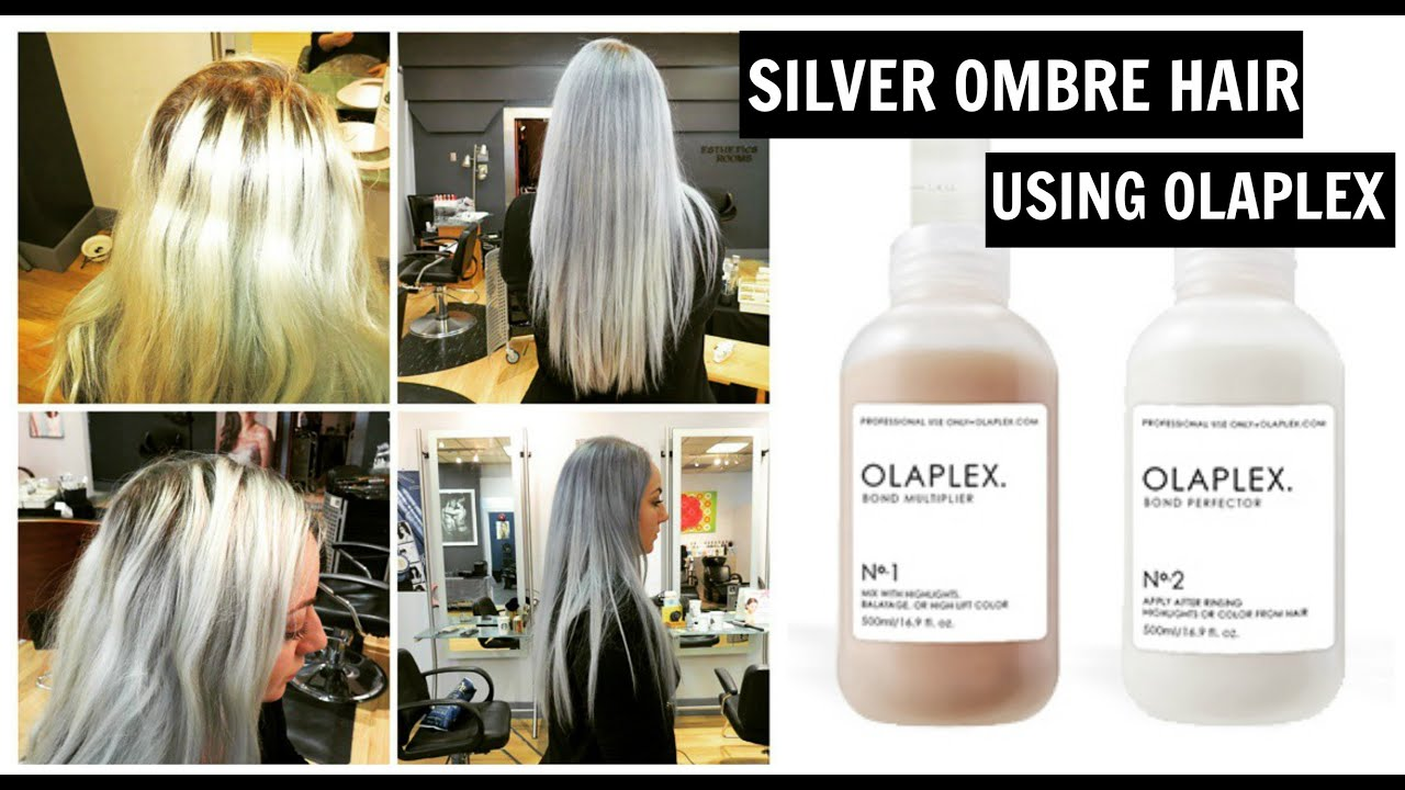 How To Bleach Hair Amp Silver Grey Ombre Tutorial Using