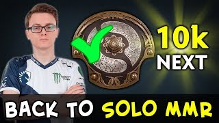 Miracle first TI next 10k — back to solo MMR