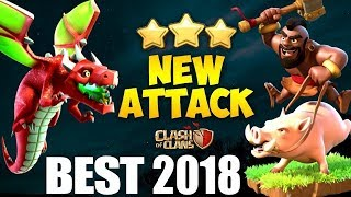 DRAGON + HOG : DRAGHO / DRAG RIDER NEW TH9 STRONG WAR ATTACK STRATEGY 2018 | Clash of Clans