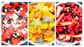 3 Healthy Fruit Salad Recipes!