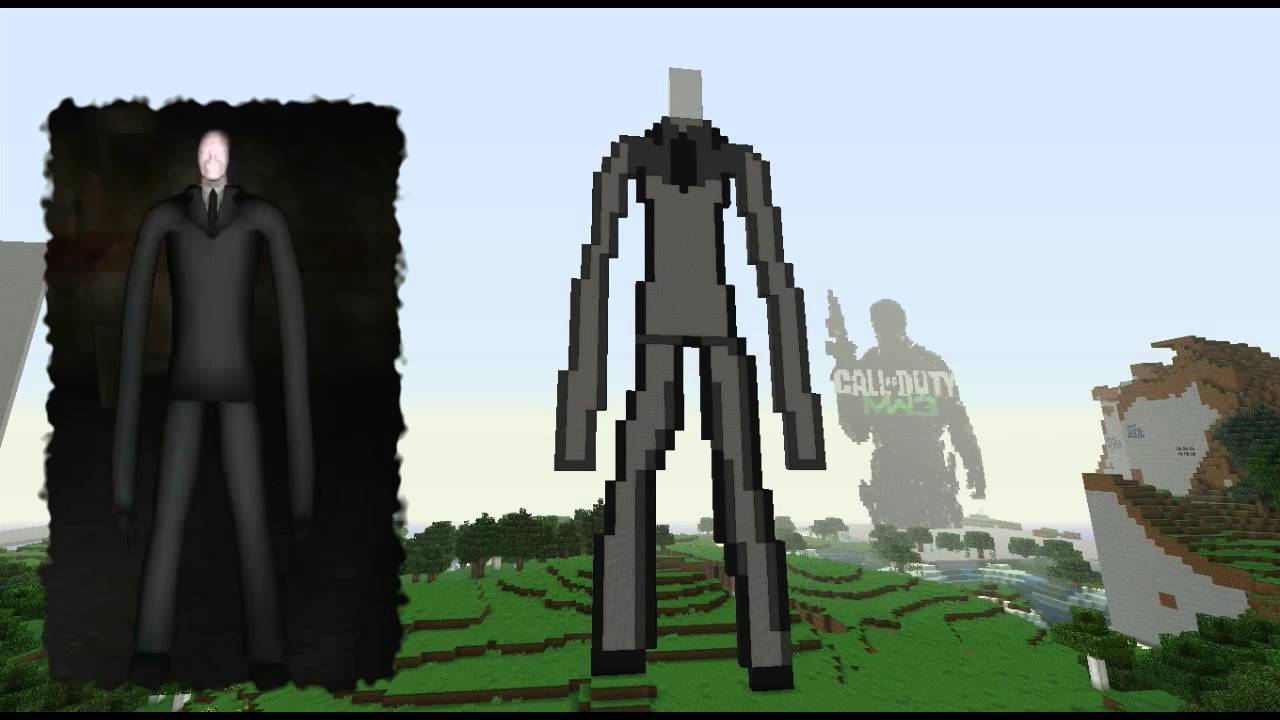 slender man youtube minecraft