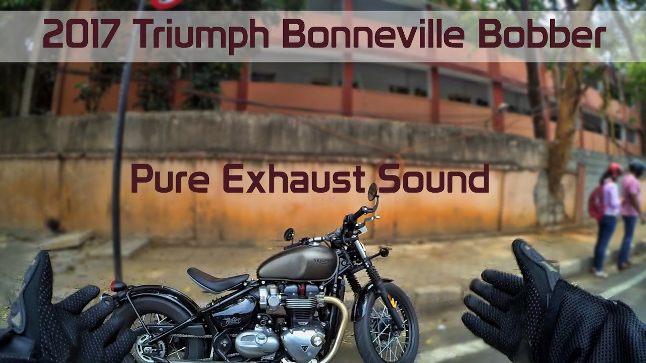 riding a triumph bonneville bobber in thunder mode pure exhaust note street eargasm