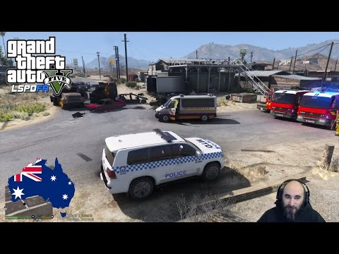 GTA 5 - LSPDFR Australia: Sandy Shores Shootouts and Shenanigans! (GTA 5 Police Mod for PC)