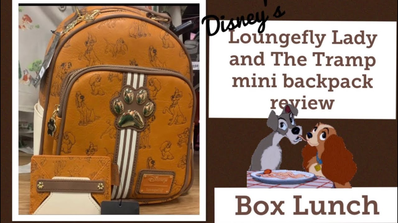 Loungefly Disney Dogs Lady And The Tramp Inspired Mini Backpack Review Youtube