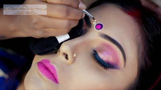 Real BENGALI bridal RECEPTION MAKEOVER  with KRYLOAN