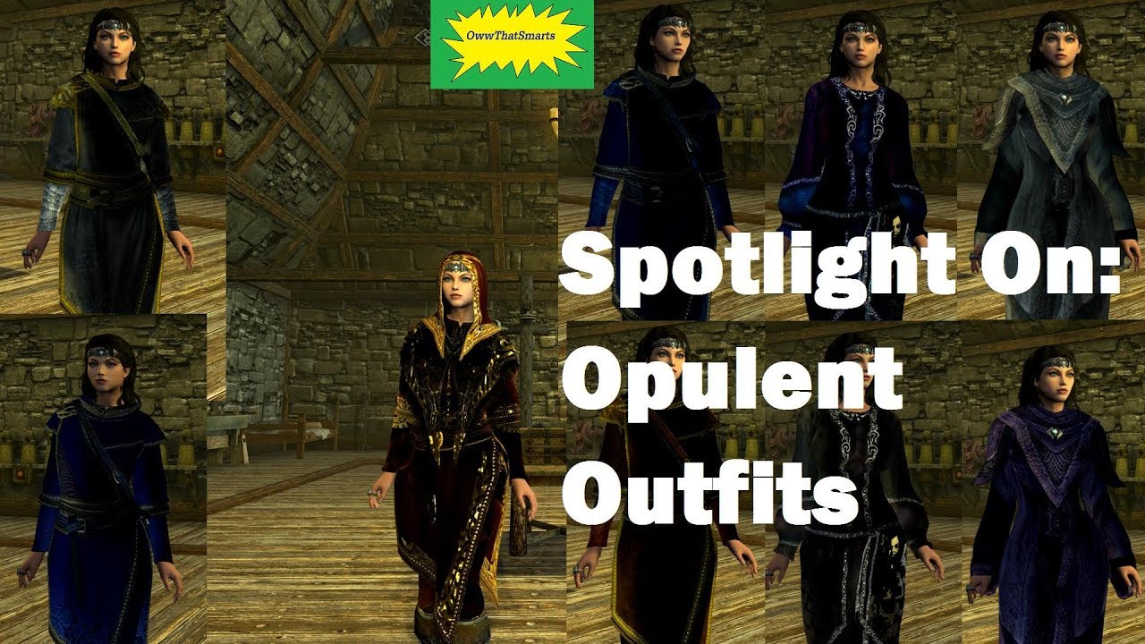 Skyrim (mods) - Charity - Spotlight On: Opulent Outfits [XB6]