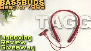 TAGG BassBuds Bluetooth Neckband 24 Hrs Playback Deep Bass