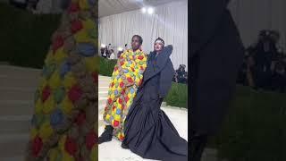 Rihanna & A$AP Rocky Arrive & Cuddle at the 2021 #MetGala #Shorts