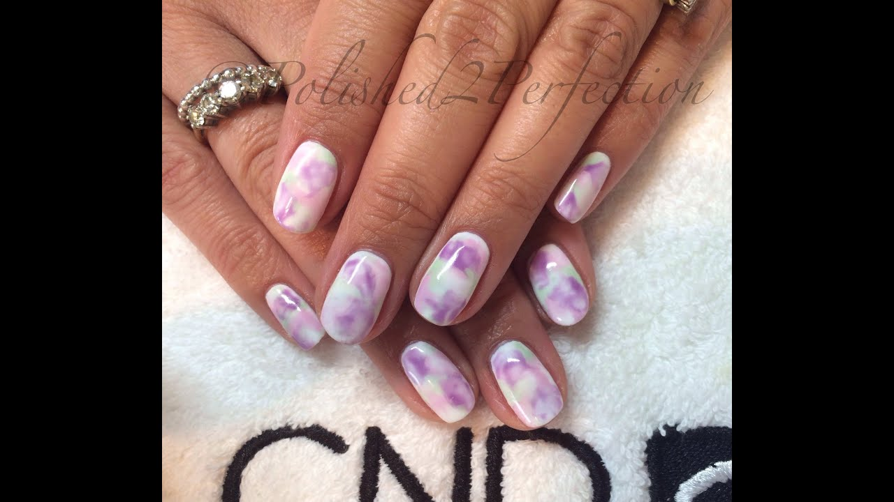 Cnd shellac watercolour pastel nails gel polish nail art youtube prinsesfo Images