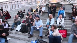 21. Friedensmahnwache in Wien: Ein Lüftchen erhebt sich aus Wien (15.9.2014)
