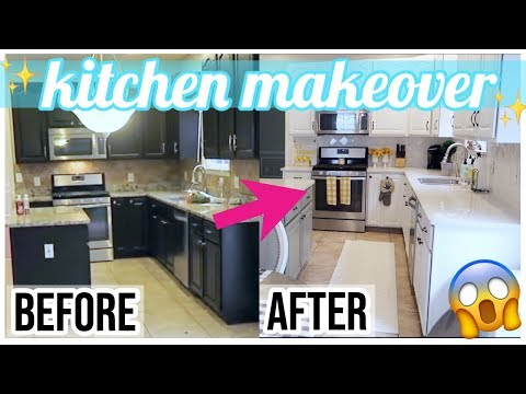 KITCHEN MAKEOVER SHOCKING BEFORE + AFTER ✨|  WHITE KITCHEN IDEAS + UPDATE TOUR | Brianna K