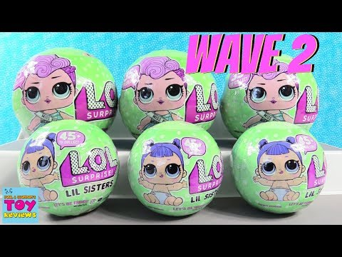 NEW LOL Surprise Wave 2 Series 2 Tots Lil Sisters Toy Opening Review | PSToyReviews