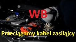 Przeciągamy kabel do wzmacniacza w Opel Astra G II - Wytwórnia Basu