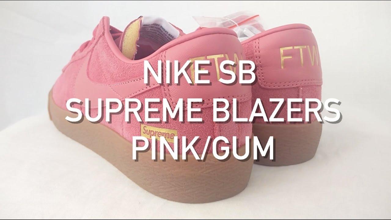nike sb supreme blazer pink