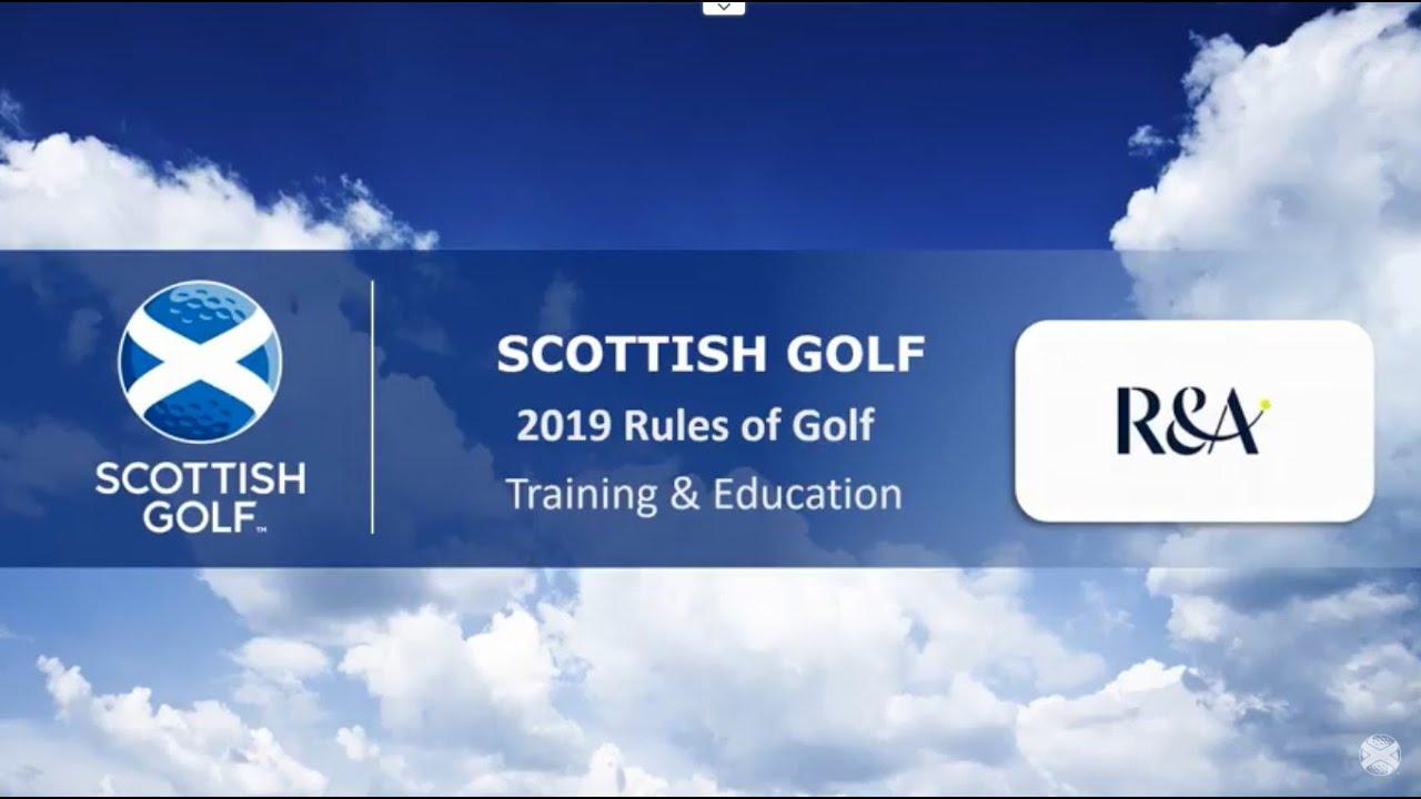 scottish golf 2019 rules presentation for members youtube. Black Bedroom Furniture Sets. Home Design Ideas