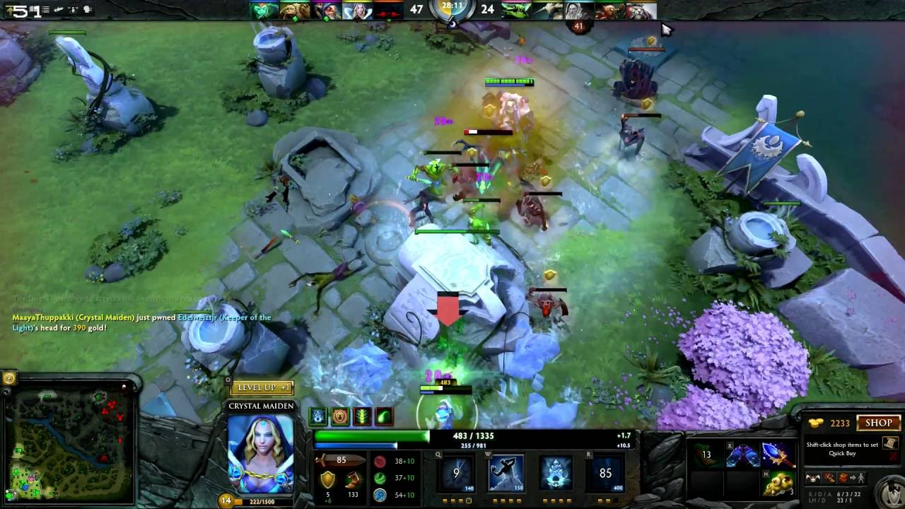 dota 2 crystal maiden support gameplay online 5 vs 5