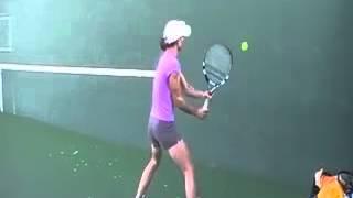 【テニススーパープレー】  世界トップの壁打ち