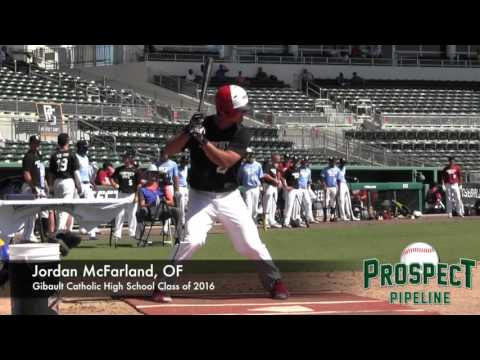 Jordan McFarland Prospect Video, 3B, Gibault Catholic High School Class of 2016
