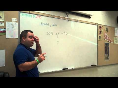 Finding the percent of a quantity or number
