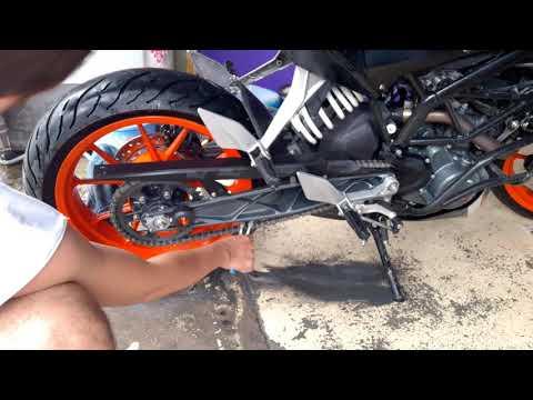 How to clean my chain   # KTM DUKE 200