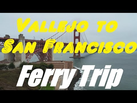 Vallejo to San Francisco ferry trip on MV Intintoli