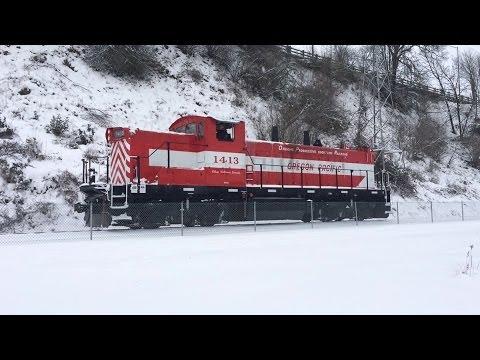 Oregon Pacific Railroad GMD-1 Snow Feb, 2014