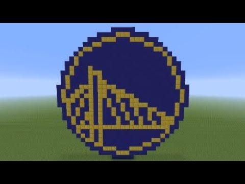 Minecraft Golden State Warriors Pixel Art Tutorial thumbnail
