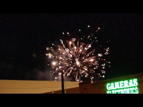 Fireworks Display At Greater Nevada Field Lively Stadium In Reno August 5, 2017