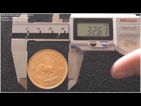 Gold and silver coin dimension testing - Fake or Real Series